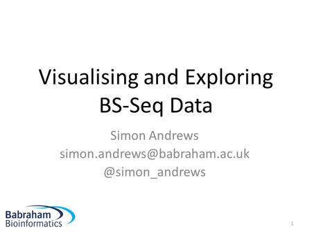Visualising and Exploring BS-Seq Data