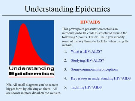 Understanding Epidemics HIV/AIDS 1.What is HIV/AIDS?What is HIV/AIDS? 2.Studying HIV/AIDS?Studying HIV/AIDS? 3.Some common misconceptionsSome common misconceptions.