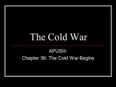 apush ch 36 assignment Chapter 8 assignment  this week we will be reviewing chapters 1-7 and learning about the different components of the apush exam 3) feel free to begin chapter 8 .