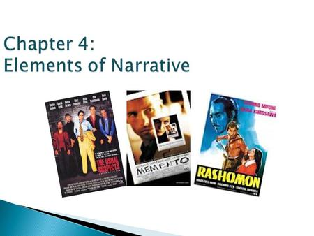 Chapter 4: Elements of Narrative