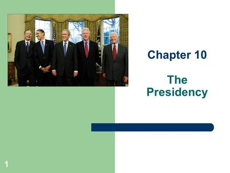Chapter 10 The Presidency 1. 2 Enduring questions 1. Did the Founding Fathers want the president to be stronger or weaker than Congress? 2. How does character.