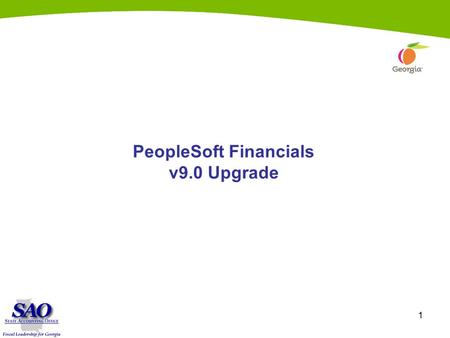 1 PeopleSoft Financials v9.0 Upgrade. 2 General Ledger.