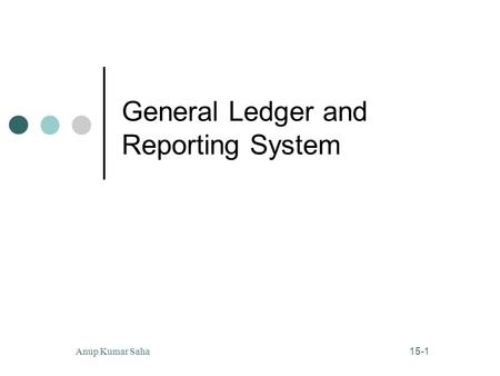 15-1 Anup Kumar Saha General Ledger and Reporting System.