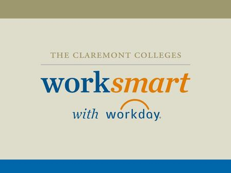 Workday Financials Implementation Project