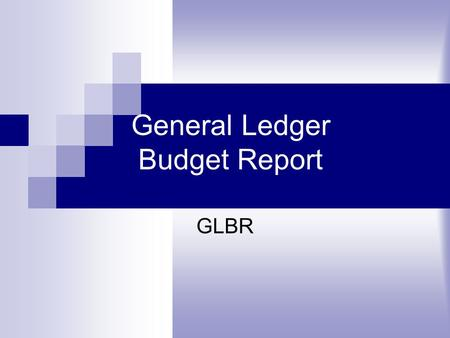 General Ledger Budget Report GLBR. Step 1:Double-click on the Datatel icon to open.