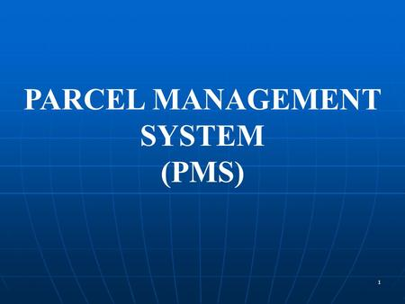 1 PARCEL MANAGEMENT SYSTEM (PMS). 2 Project PMS Implemented at 10 stations on New Delhi- Howrah corridor NR---New Delhi, Delhi NCR--Kanpur, Allahabad.