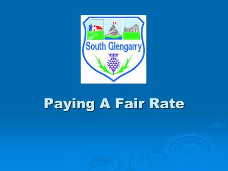 Paying A Fair Rate. Notice Regarding New WATER & SEWER RATES  Council Meetings (Open Session) June 18, 2007 – Special Meeting June 18, 2007 – Special.