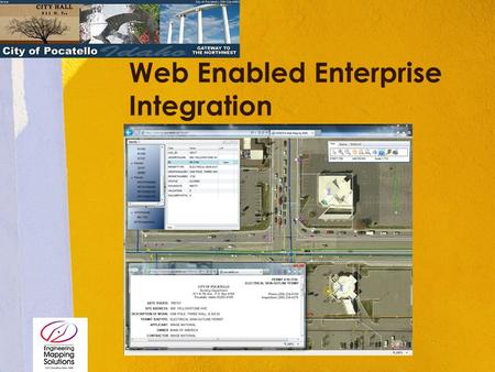 Web Enabled Enterprise Integration Insert Product Photograph Here.