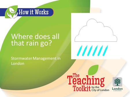 Where does all that rain go? Stormwater Management in London.