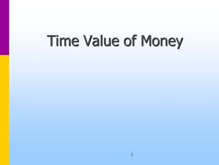 1 Time Value of Money. 2 Compounding Assume that the interest rate is 10% p.a.Assume that the interest rate is 10% p.a. What this means is that if you.