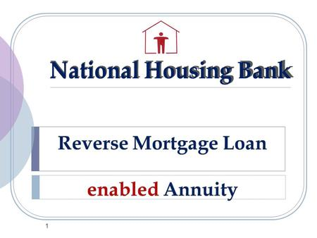 1. PRESENTATION STRUCTURE  Reverse Mortgage Loan: Background  Reverse Mortgage Loan (2007)  RML enabled Annuity: The New Concept  How it Works  RML.