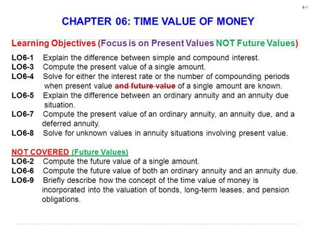 CHAPTER 06: TIME VALUE OF MONEY