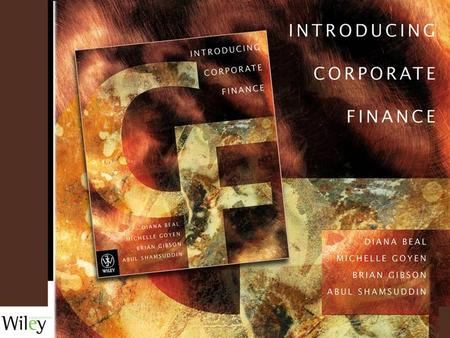 TOPIC TWO: Chapter 3: Financial Mathematics By Diana Beal and Michelle Goyen.