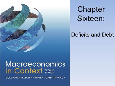 Chapter Sixteen: Deficits and Debt. Deficits and National Debt.