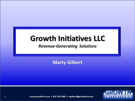 Growth Initiatives LLC Revenue-Generating Solutions