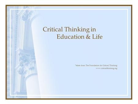 Enoch Hale  Ph D  Fellow  Foundation for Critical Thinking   ppt     FactCheckNI    New Technology