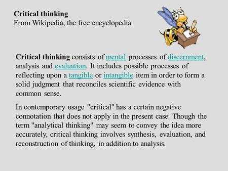 critical thinking wikipedia