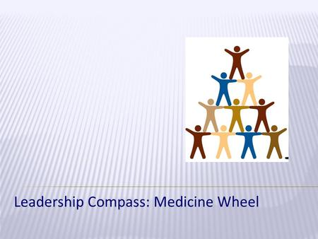 Leadership Compass: Medicine Wheel. Gain an understanding of one's own leadership style Gain perspective about how leadership style affects coaching role.