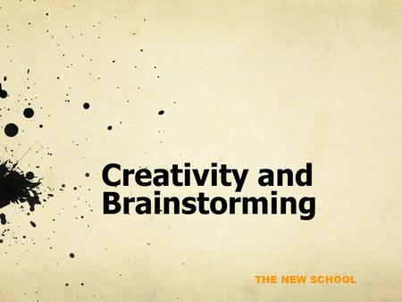 "THE NEW SCHOOL Creativity and Brainstorming. THE NEW SCHOOL What Is ""Star Wars: A New Hope"" (Episode IV) About?"
