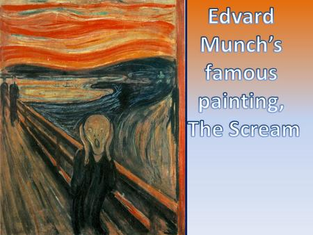 There are two style points in Edvard Munch's work that we are working with: 1.The use of wavy blended color to create movement in painting 2. Perspective: