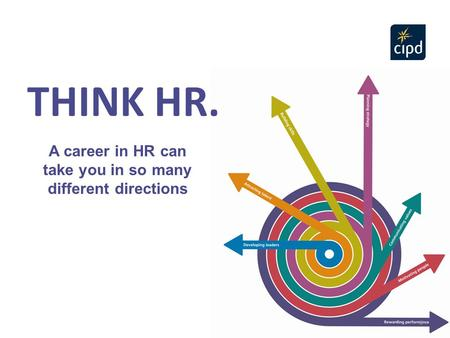 A career in HR can take you in so many different directions 2 THINK HR.