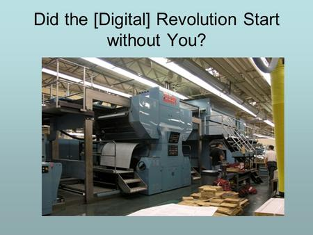 Did the [Digital] Revolution Start without You?. What Is Short-Run Digital Printing? Order is triggered by reorder point reached in publisher's inventory.