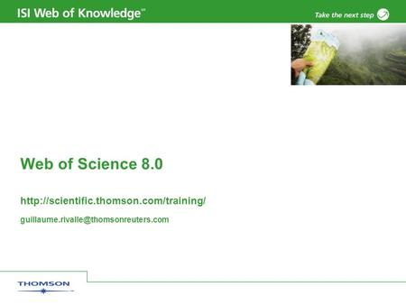Web of Science 8.0
