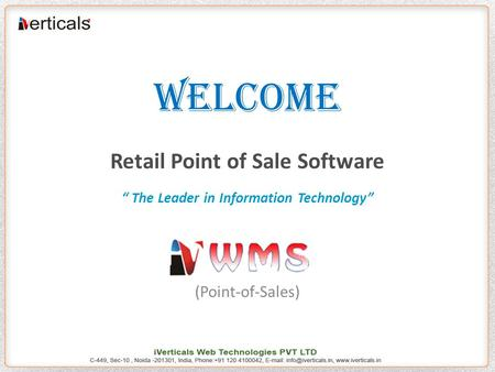 "WELCOME Retail Point of Sale Software "" The Leader in Information Technology"" (Point-of-Sales)"