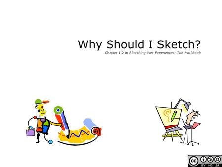 Why Should I Sketch? Chapter 1.2 in Sketching User Experiences: The Workbook.
