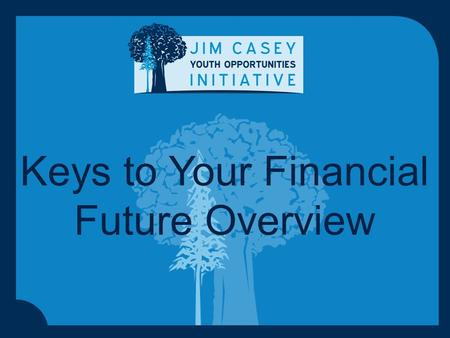 Keys to Your Financial Future Overview. 1 Keys to Your Financial Future: Curriculum Goal To give young people keys to their financial futures so they.