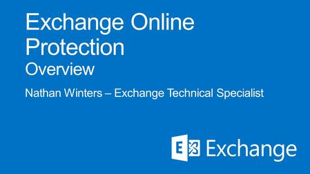 On-premises Exchange Online Protection Office 365 Directory Sync ADFS (optional) Single sign on Secure mail flow Existing email environment.