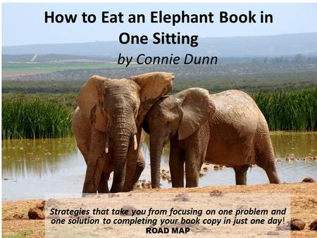 How to Eat an Elephant Book in One Sitting Strategies that take you from focusing on one problem and one solution to completing your book copy in just.