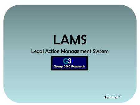 LAMS Legal Action Management System Seminar 1 SKIP TO 1.Overview of LAMS 2.The Index_Active.xls11.Small Claims Court PLAINTIFF'S CLAIM:12.Plaintiff No.112.Plaintiff.