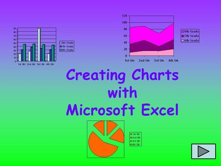 Creating Charts with Microsoft Excel Microsoft Excel TERMS Cells Columns A Rows 1.