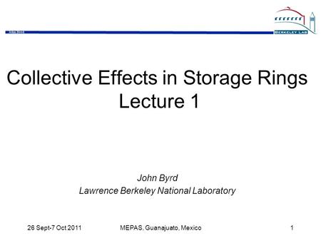Collective Effects in Storage Rings Lecture 1