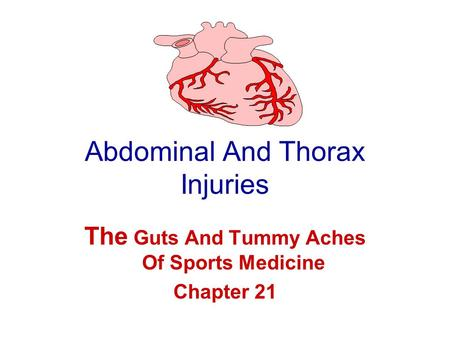 Abdominal And Thorax Injuries The Guts And Tummy Aches Of Sports Medicine Chapter 21.