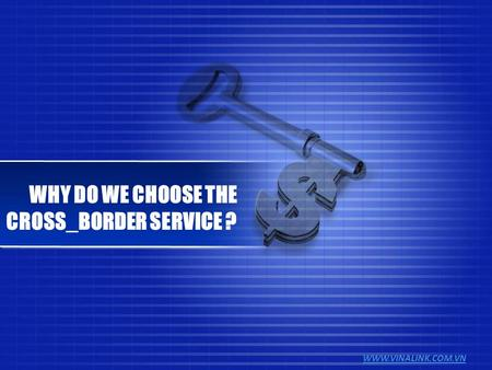 WWW.VINALINK.COM.VN WHY DO WE CHOOSE THE CROSS_BORDER SERVICE ?