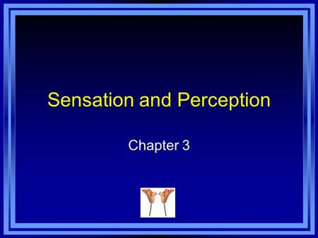 Sensation and Perception Chapter 3. Chapter 3 Learning Objective Menu LO 3.1 Sensation and how it enters central nervous system LO 3.2 How some sensations.