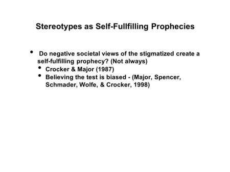 the effect of self fulfilling prophecies on self concept essay