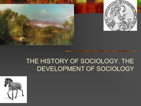 History of sociology