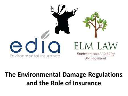 The Environmental Damage Regulations and the Role of Insurance.