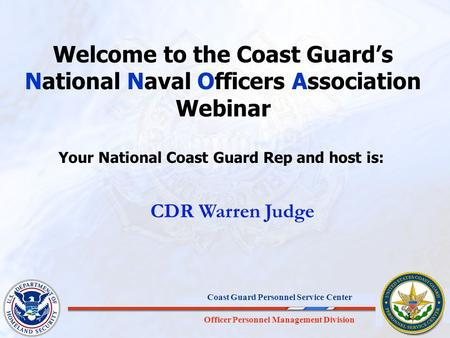 Your National Coast Guard Rep and host is: