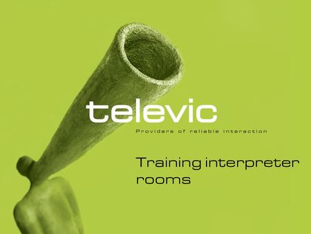 "Training interpreter rooms. 1.1. Switching on the Teacher Unit Log on to the PC and school network. To log on, press ""Control, Alt, Delete"" simultaneously."