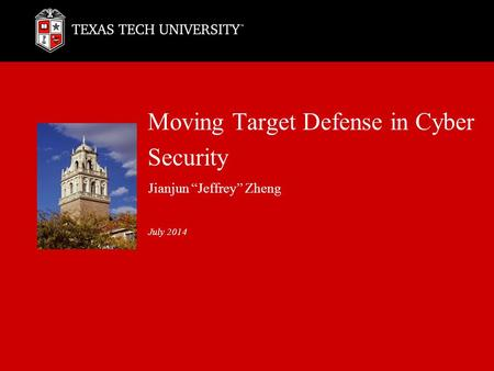 Moving Target Defense in Cyber Security