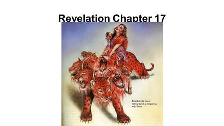 Revelation Chapter 17. 1 Then one of the seven angels who had the seven bowls came and spoke with me, saying, Come here, I will show you the judgment.