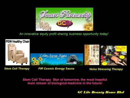 Stem Cell Therapy Star of tomorrow, the most hopeful main stream of biological medicine in the future! An innovative equity profit sharing business opportunity.