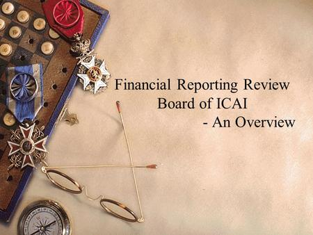 Financial Reporting Review Board of ICAI - An Overview.