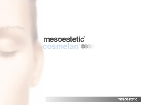 MENU. depigmentating cosmetic treatment effective against blemishes.