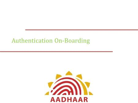 Authentication On-Boarding