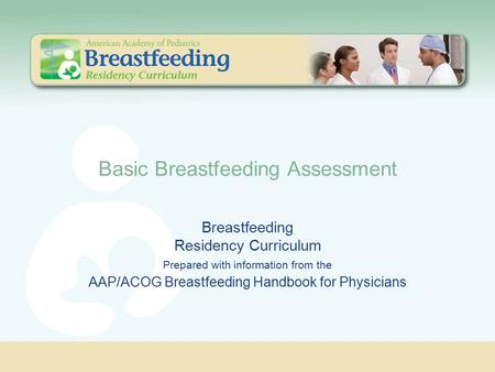 Basic Breastfeeding Assessment